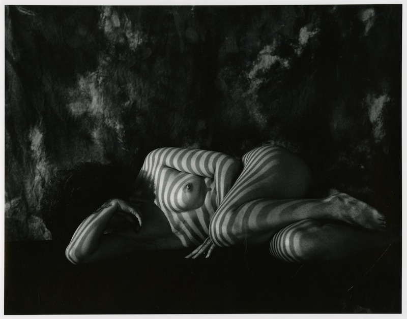 Nude Reclining in Striated Light